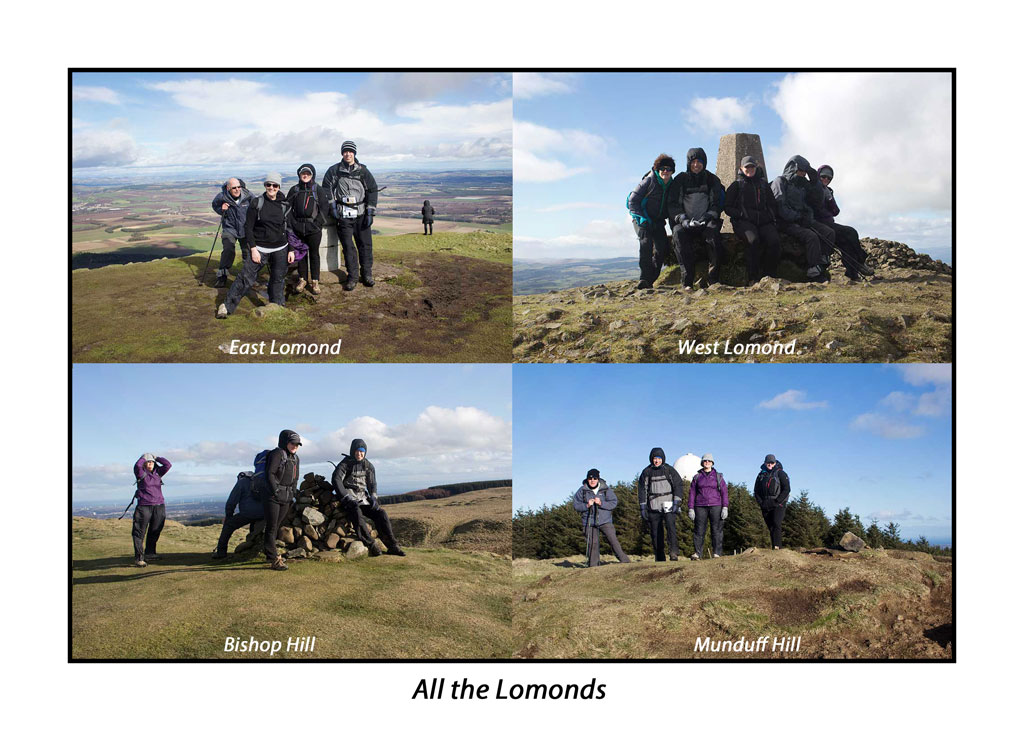 Fife Out and About members in the Lomond Hills